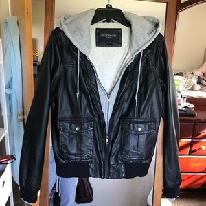Obey Propoganda Jackets & Coats - Double-lined Faux Leather Jacket